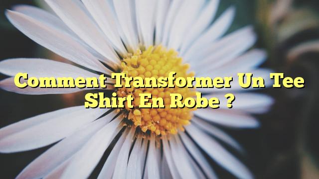 Comment Transformer Un Tee Shirt En Robe ?