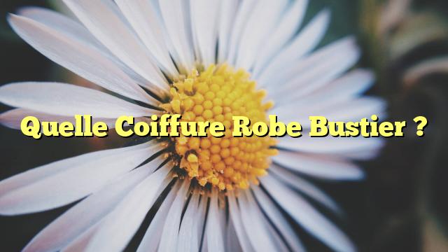 Quelle Coiffure Robe Bustier ?
