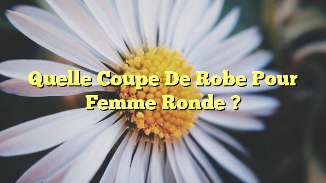 Quelle Coupe De Robe Pour Femme Ronde ?