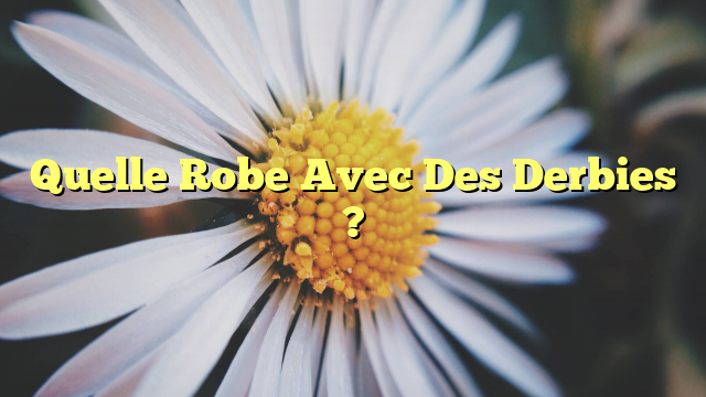 Quelle Robe Avec Des Derbies ?